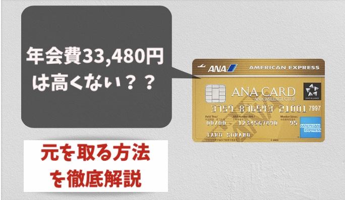 ANAアメックスゴールドの年会費33,480円の元を取る元を取る方法