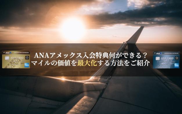 ANAアメックス入会キャンペーンで獲得できるマイルでできる事