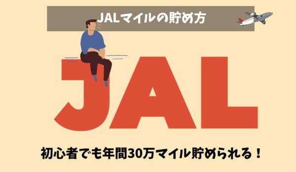JALマイルの貯め方|陸マイラーで年間30万マイル貯める方法