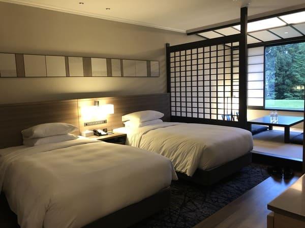 マリオット伊豆修善寺でSPGアメックス特典で和洋室ツインにアップグレード